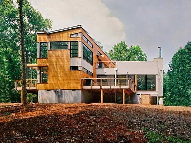 Современный дом из бамбука