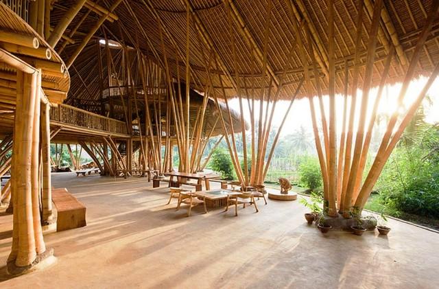 Красивый бамбуковый дом фото