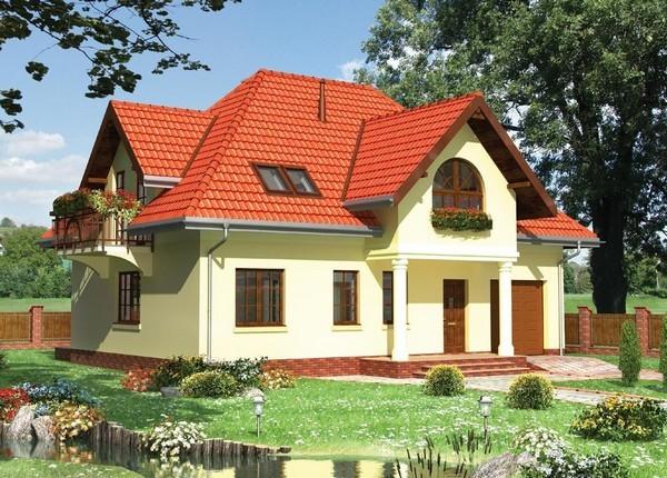 Дом со встроенным гаражом фото