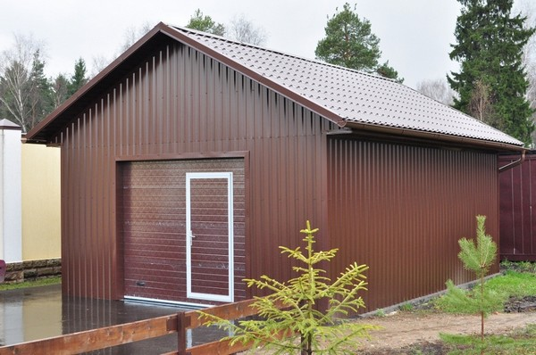металлический гараж фото