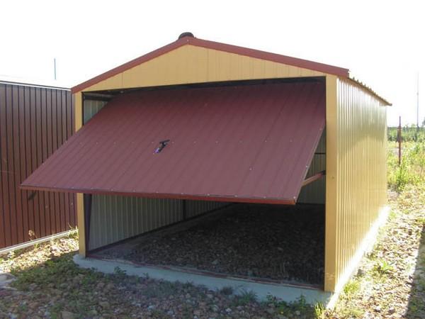 Как построить гараж из профнастила
