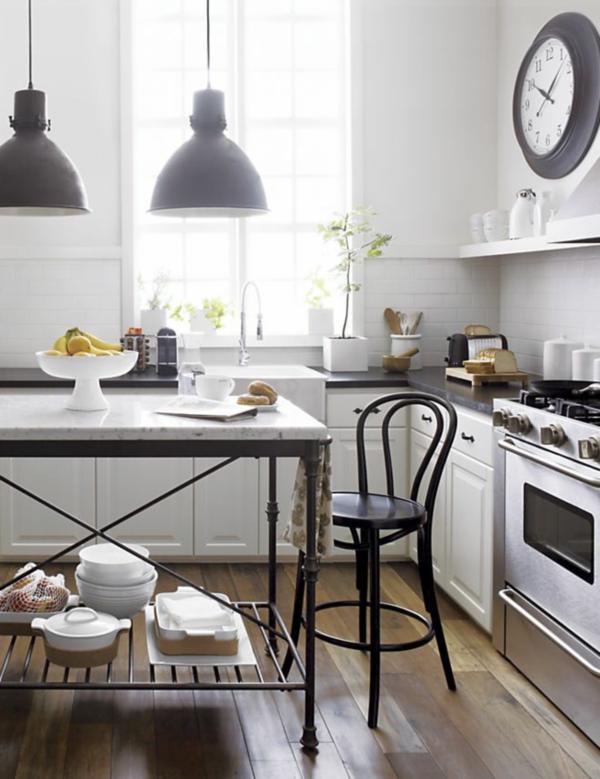 Освещение для кухни в стиле уютного кафе