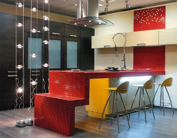 Современный дизайн кухни в стиле бистро