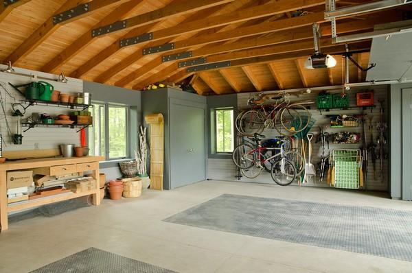 обустройство гаража внутри своими руками