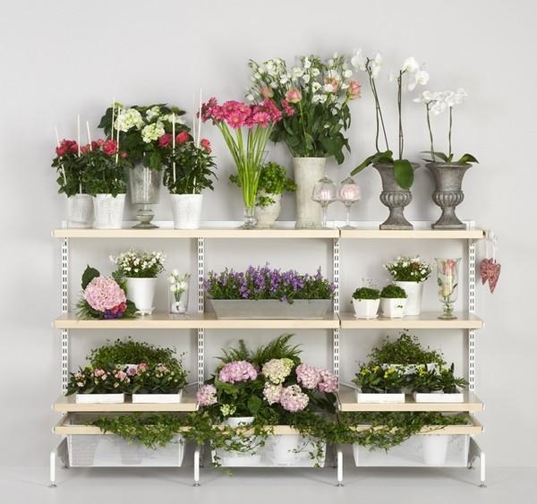 этажерка для цветов металлическая