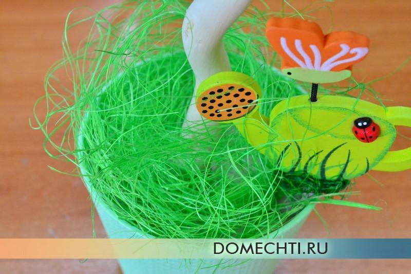 Hiasan hiasan topiari DIY