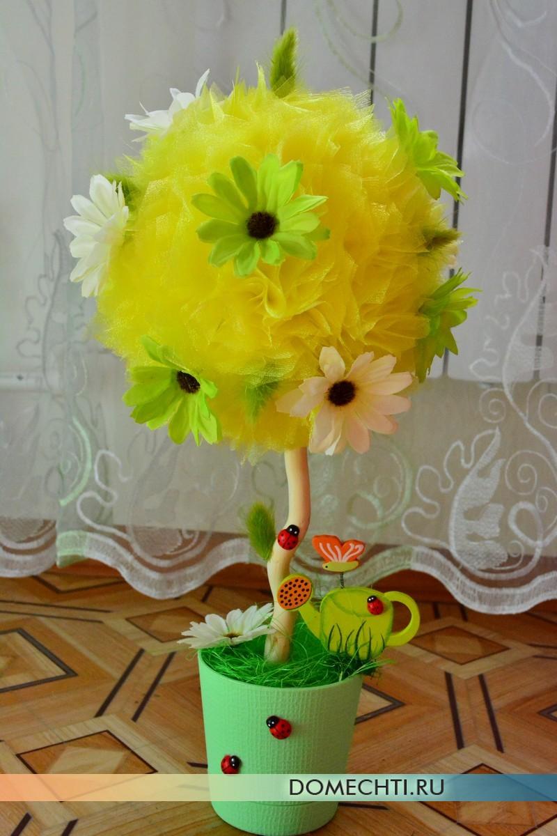 Topiary organza kuning cantik