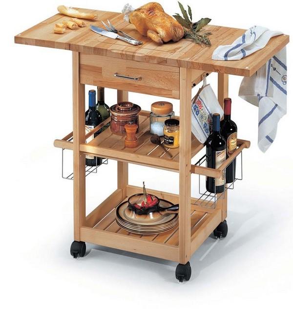 Сервировочный столик-островок на колесиках
