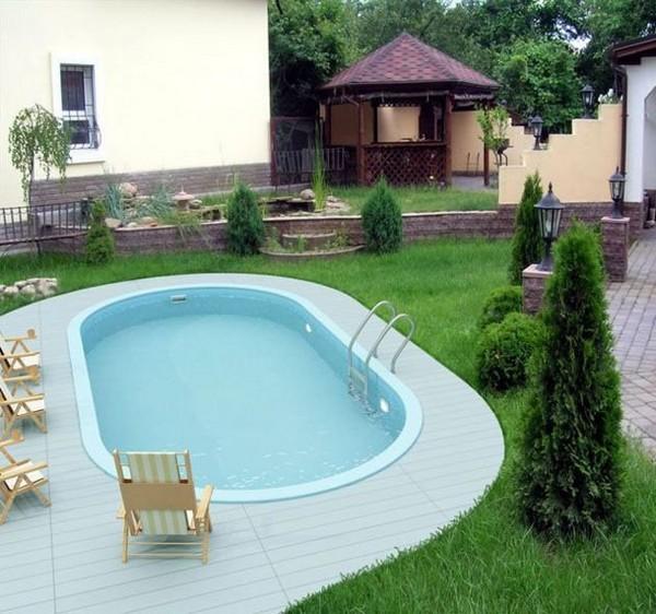 Планирование участка с бассейном