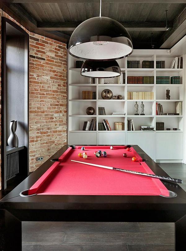 Бильярдная комната в стиле лофт