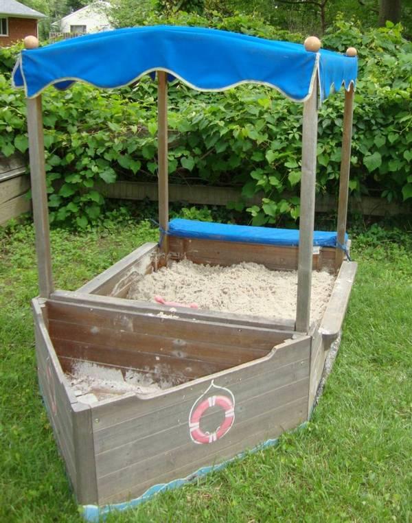 Песочница кораблик фото