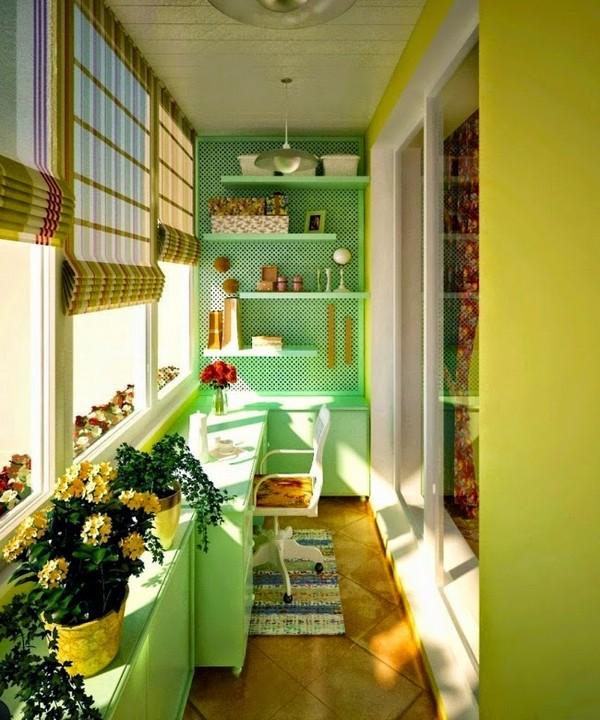Красивая комната на балконе