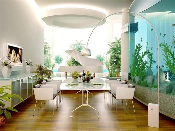 Встроенные аквариумы в стене фото
