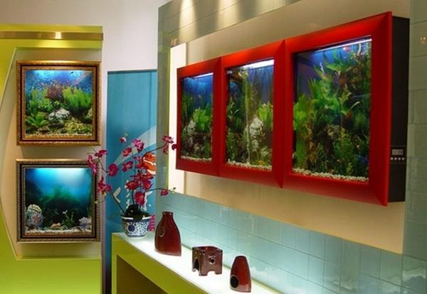 Настенные аквариумы-картины фото