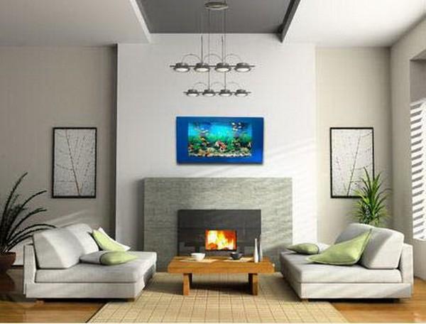 Аквариум-картина на стене