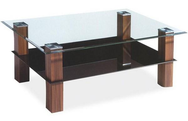 Журнальные столики с деревянными ножками и стеклянной столешницей