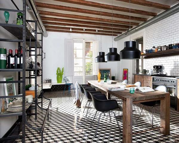 Светильники для кухни в индустриальном стиле