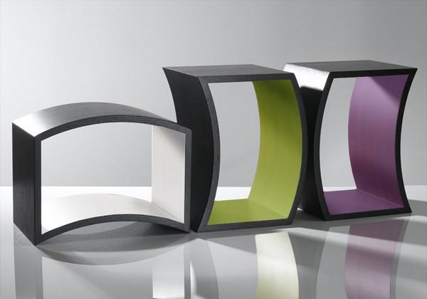 Приставные столики оригинальной формы