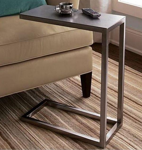 Металлический приставной столик к дивану фото