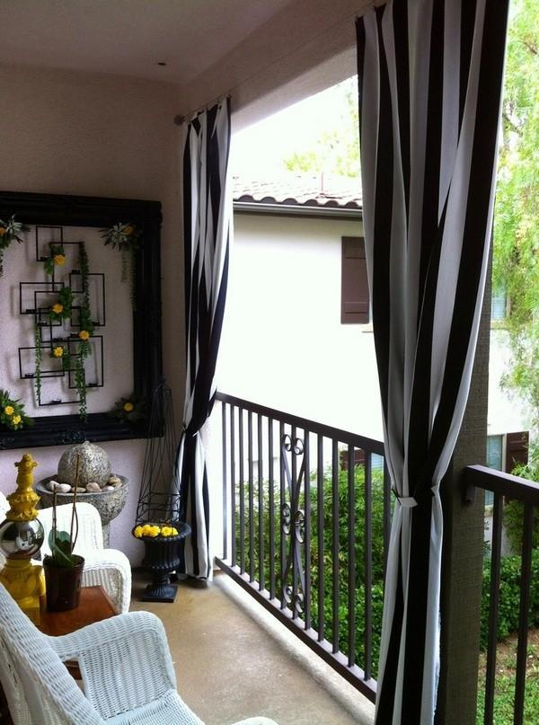 Шторы для открытого балкона фото