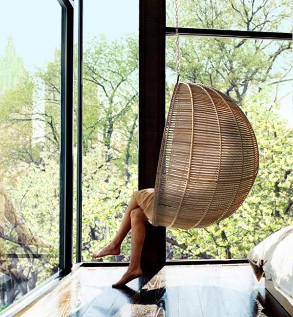 подвесное плетеное кресло шар фото