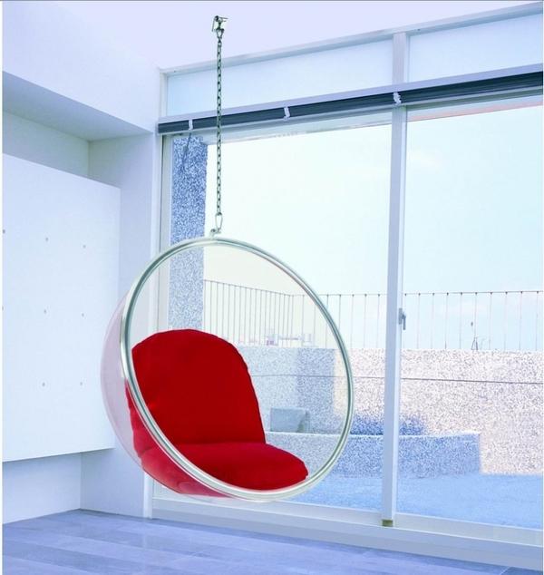 Прозрачное подвесное кресло bubble