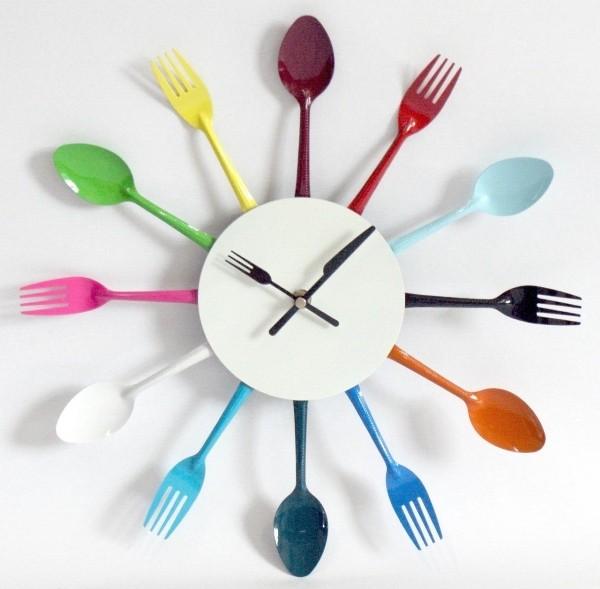 Оригинальные настенные кухонные часы своими руками