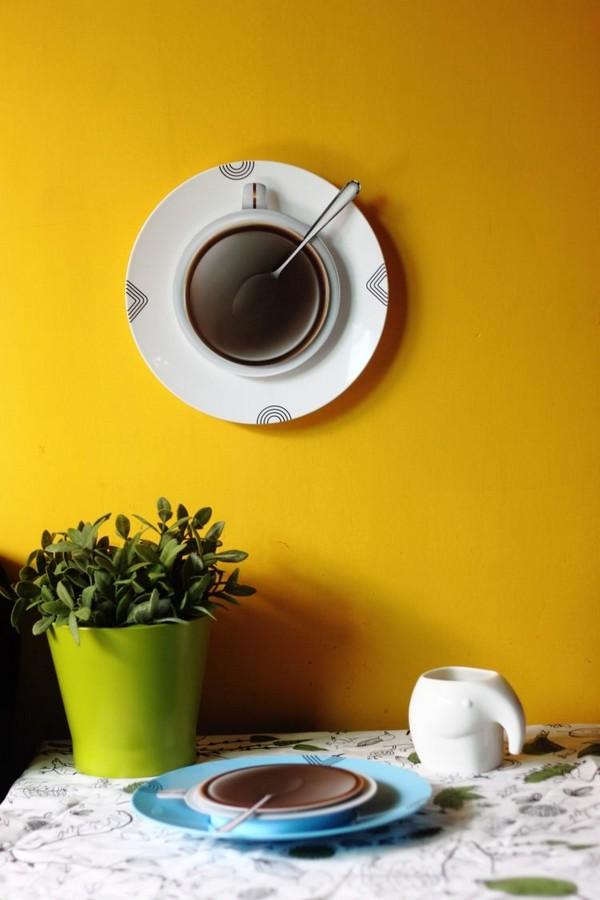 Часы на стену чашка кофе