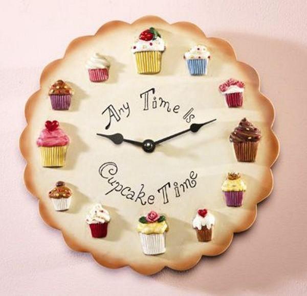 Креативные кухонные часы на стену