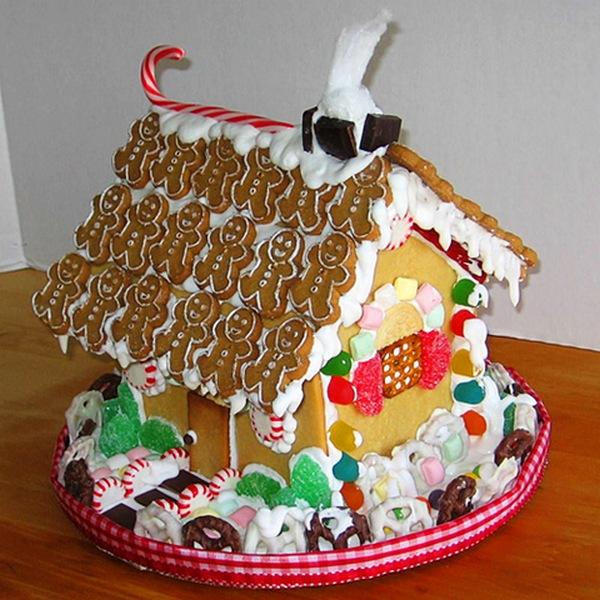 Пряничный рождественский домик фото