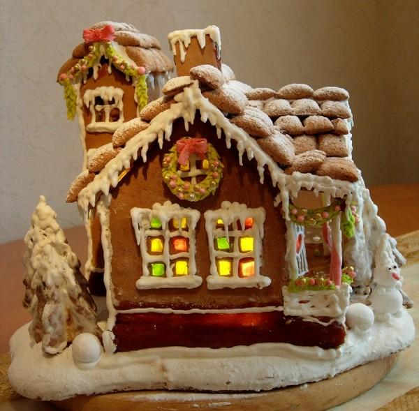 Красивый пряничный домик фото