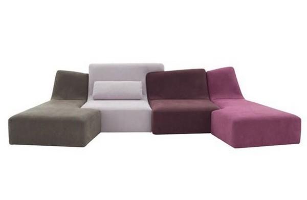 Бескаркасный модульный диван фото