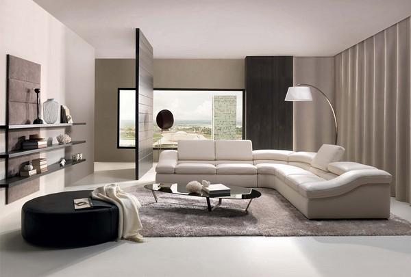 Белый диван кожаный угловой