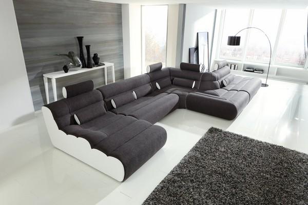 Бескаркасный диван в гостиную модульный