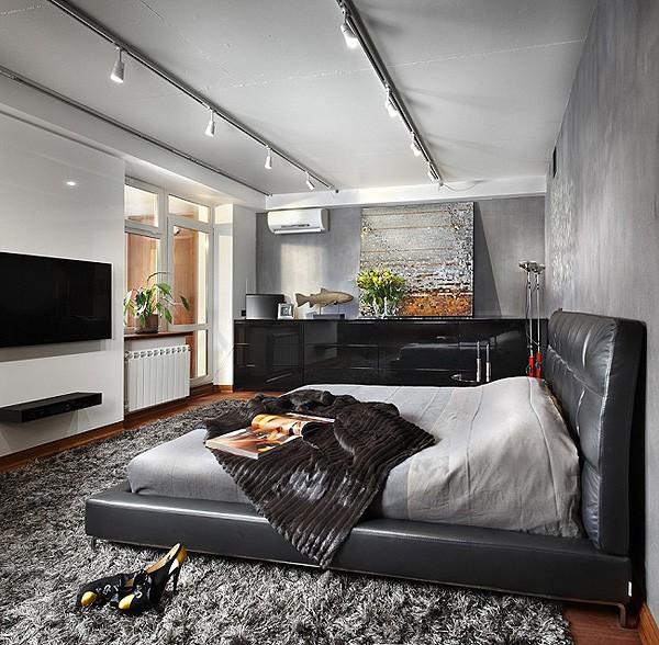 Интерьер спальни в стиле конструктивизм