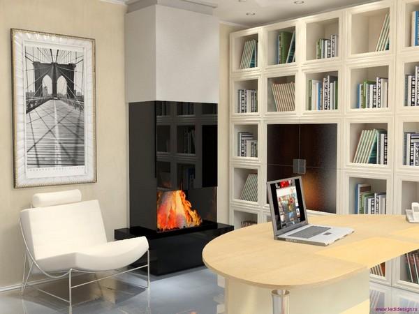 Конструктивизм в интерьере домашнего кабинета