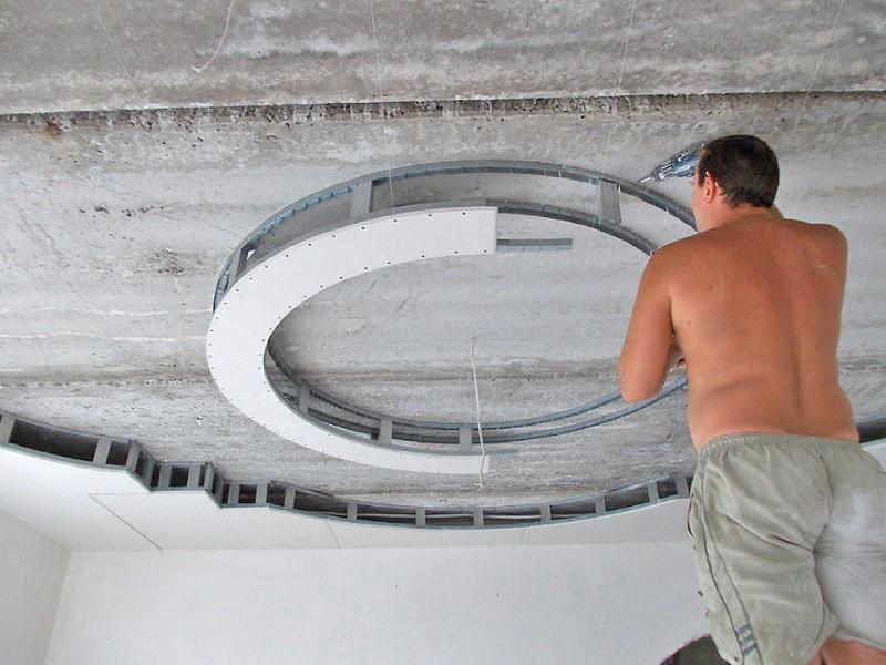 многоуровневый потолок своими руками фото