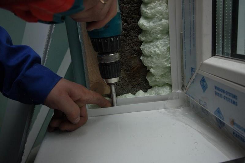 установка пластиковых откосов своими руками фото