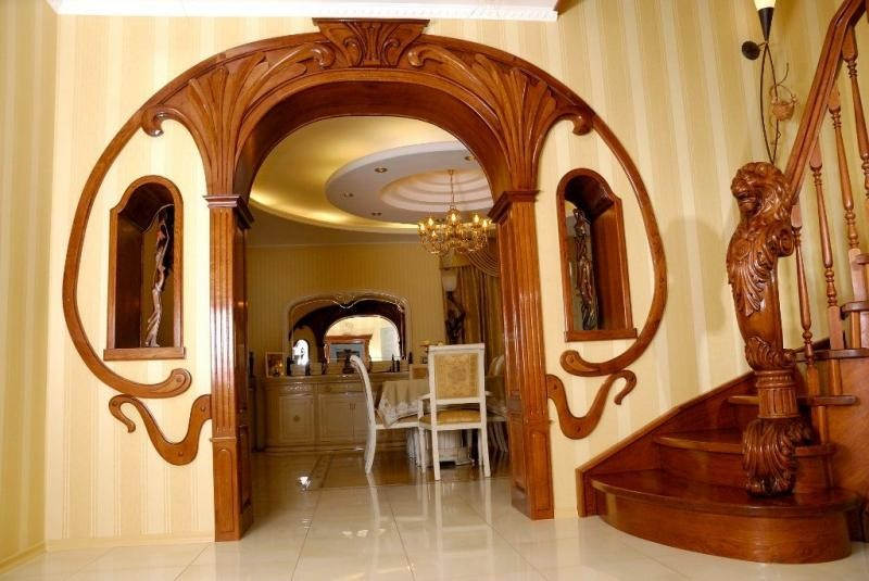 арка деревянная межкомнатная фото