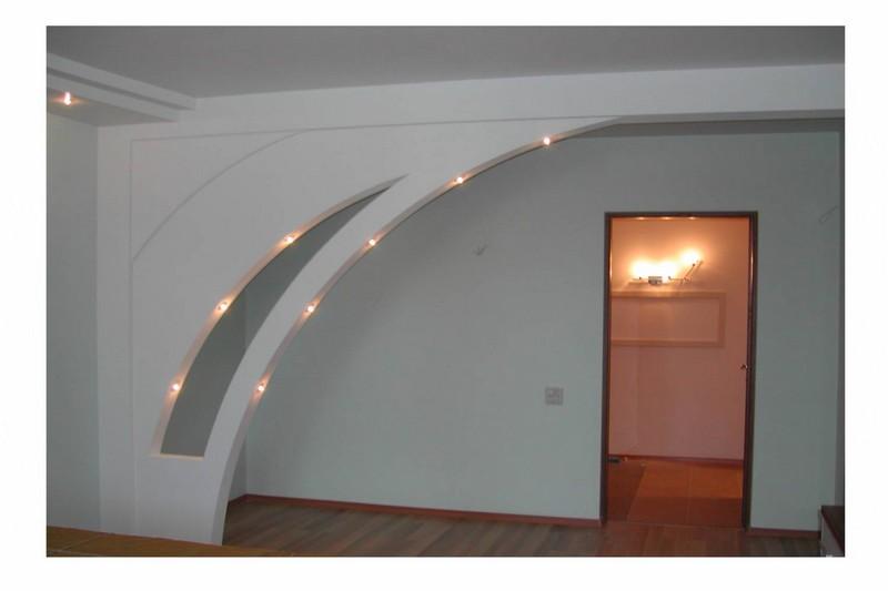 установка межкомнатной арки фото