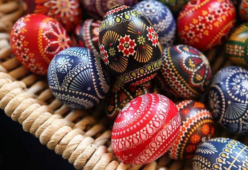деревянные яйца пасхальные