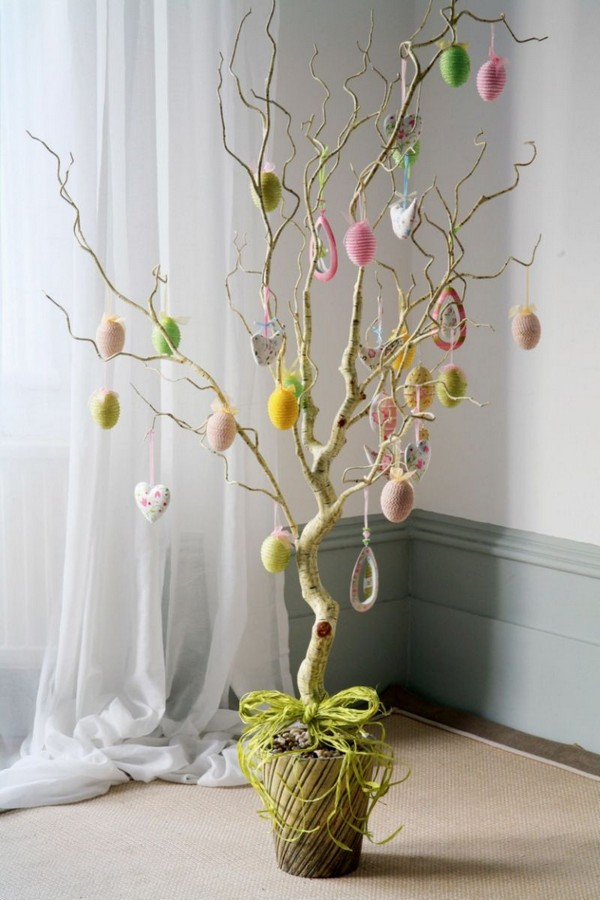 украшение пасхального дерева