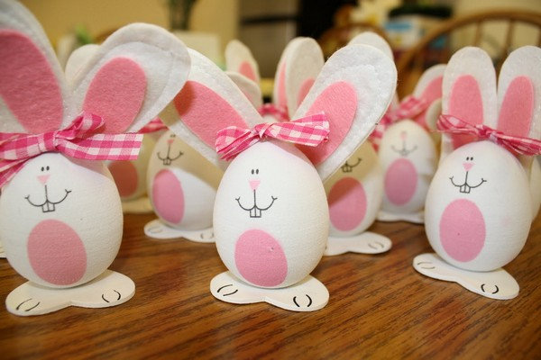 Пасхальные яйца-зайцы