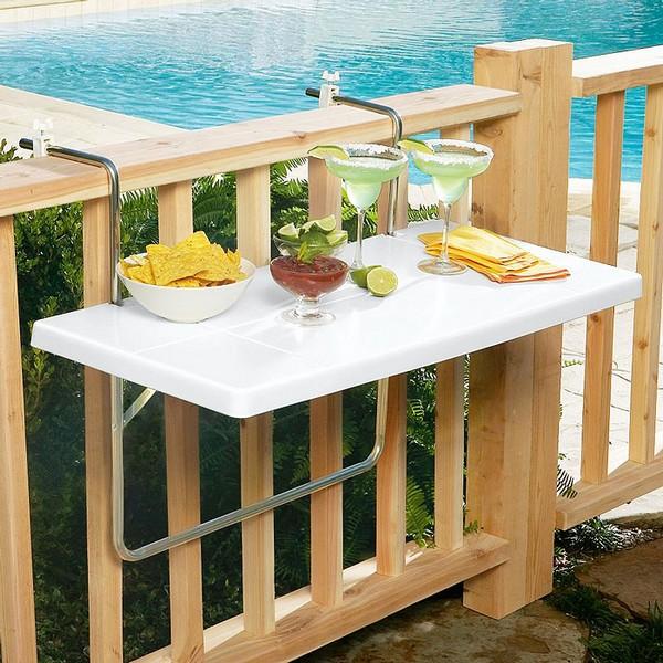Навесной балконный столик фото