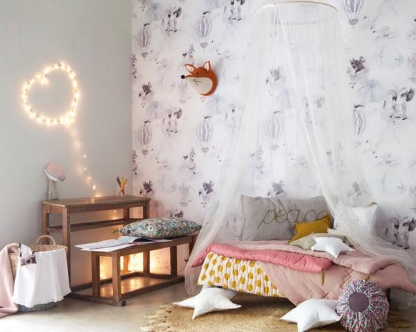 Дизайн стен детской в скандинавском стиле фото
