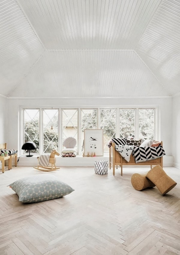 Оригинальный дизайн детской комнаты в скандинавском стиле