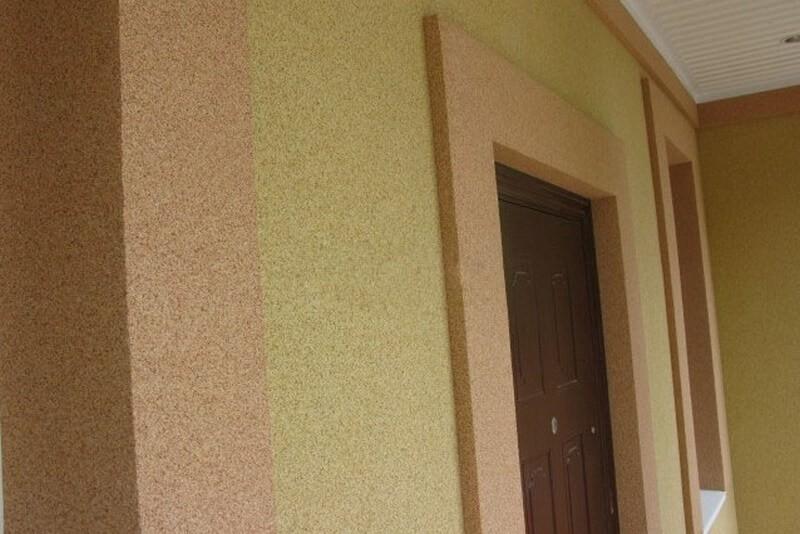 камешковая фасадная штукатурка фото