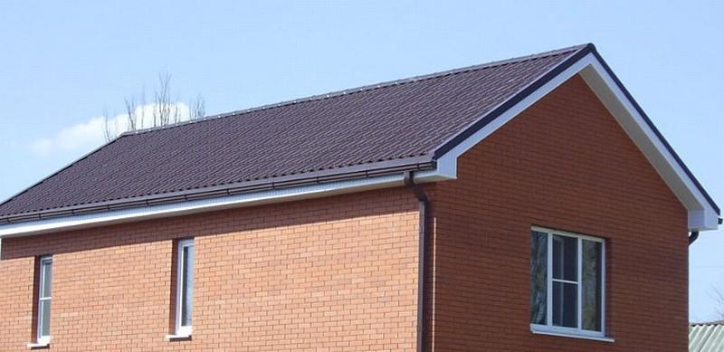 конструкция двускатной крыши фото