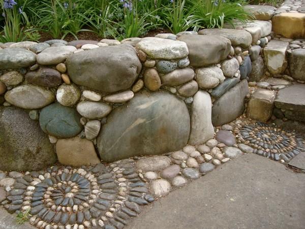 Бордюрчики для клумб из камня фото