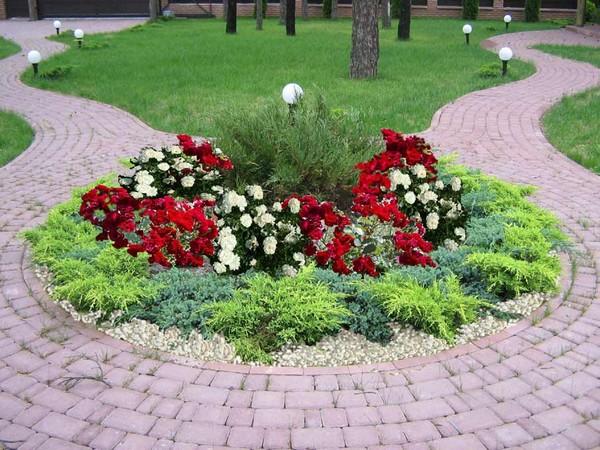 Правильные геометрические формы цветников
